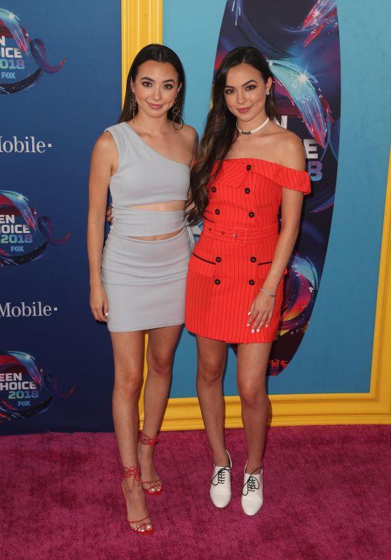 Veronica Merrell and Vanessa Merrell – Teen Choice Awards 2018