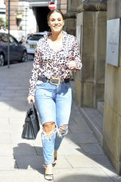 Vicky Pattison - Arriving At Rosso Restaurant in Manchester 08/19/2018