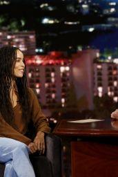 Zoe Kravitz - Jimmy Kimmel Live 08/16/2018