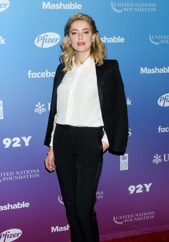 Amber Heard - Social Good Summit in New York 09/23/2018