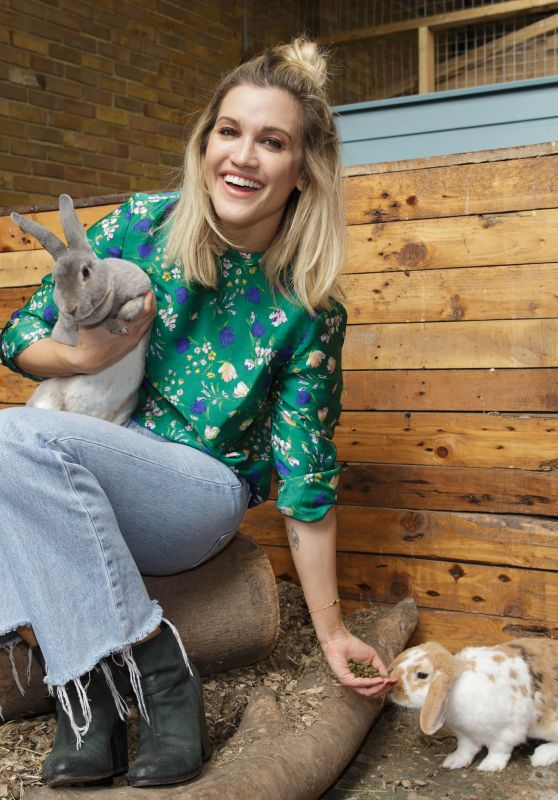 """Ashley Roberts - """"Face Of Amazon Pets"""" Promotion at Mudchute Farm in London"""