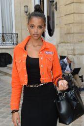 Aya Jones – Jacquemus Show at Paris Fashion Week 09/24/2018