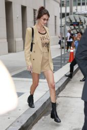 Bella Hadid Style and Fashion - Arrives at an Office in NY 09/07/2018