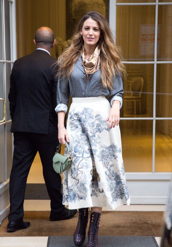 Blake Lively - Leaving Dior Office in Paris 09/20/2018