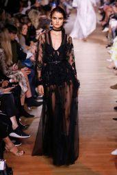 Blanca Padilla Walks Elie Saab Show at Paris Fashion Week 09/29/2018