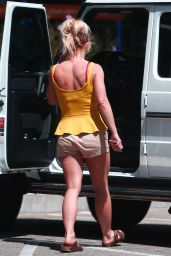 Britney Spears Leggy in Shorts - LA 09/15/2018