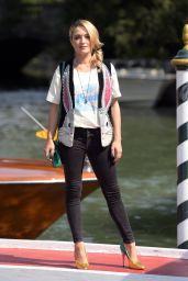 Carolina Crescentini – Sighting During 75th Venice Film Festival 08/29/2018