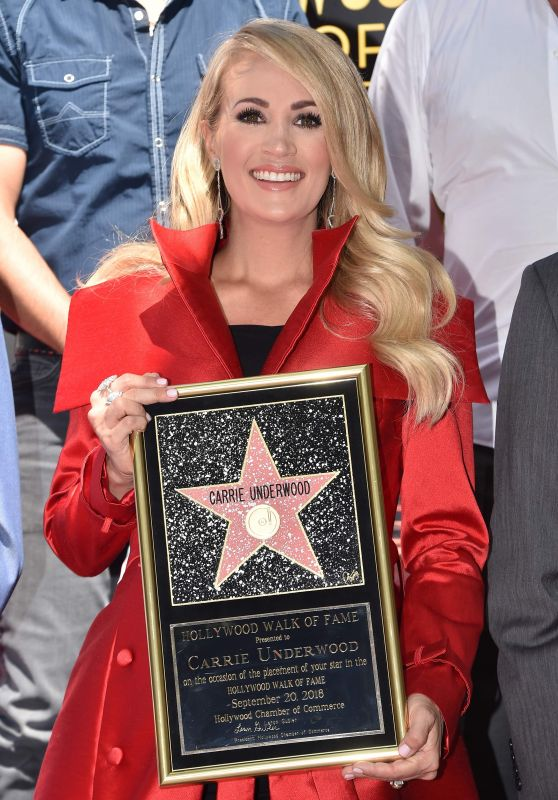 Carrie Underwood - Hollywood Walk of Fame Star Ceremony Honoring Carrie Underwood in Hollywood 09/18/2018