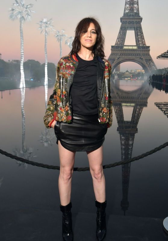 Charlotte Gainsbourg – Saint Laurent Show, Paris Fashion Week 09/25/2018