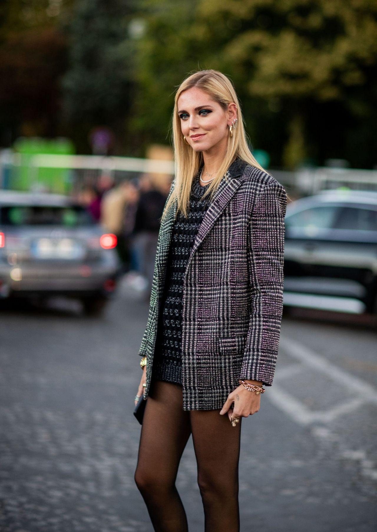 Chiara Ferragni Outside Saint Laurent Show In Paris 09