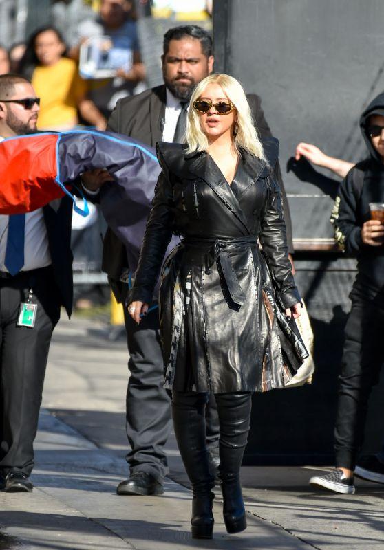 "Christina Aguilera - Outside ""Jimmy Kimmel Live"" in LA 09/12/2018"