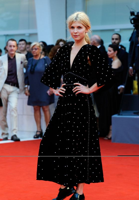 "Clemence Poesy – ""A Star is Born"" Red Carpet at Venice Film Festival"
