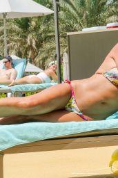 Danielle Lloyd in Bikini by Pool in Dubai 09/02/2018