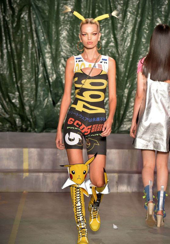 Daphne Groeneveld Walks GCDS Show, Milan Fashion Week 09/22/2018