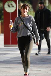 Davina McCall in Tights Outside ITV Studios in London 09/27/2018