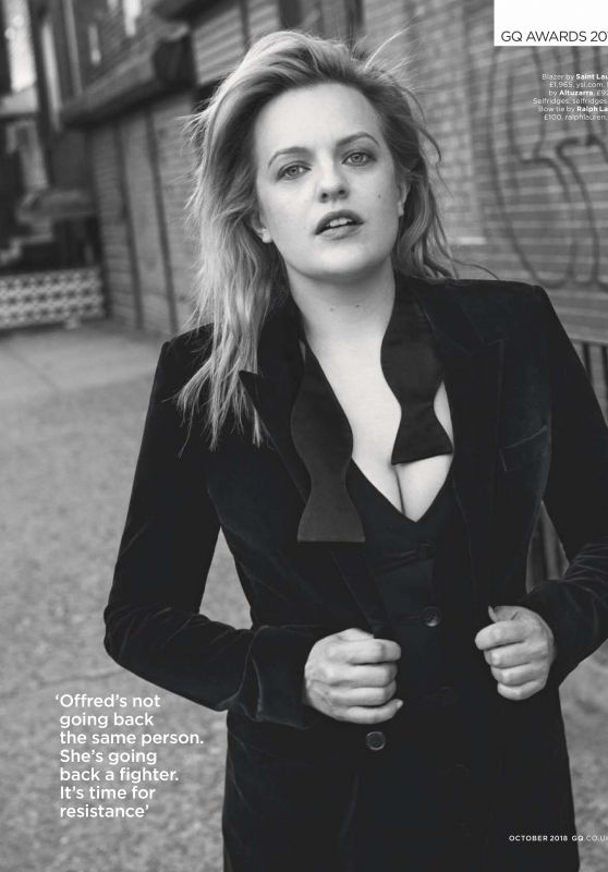 Elisabeth Moss - GQ UK October 2018 Issue