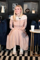"""Elle Fanning - Coffee with Creators for the Film """"Teen Spirit"""" at 2018 TIFF"""