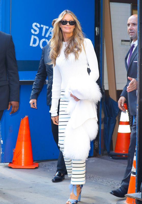 Elle Macpherson - Leaves at Good Morning America in New York 09/19/2018