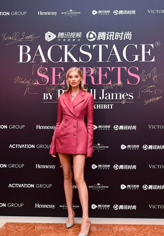 Elsa Hosk – Backstage Secrets By Russell James Beijing Exhibit Opening Party 09/14/2018