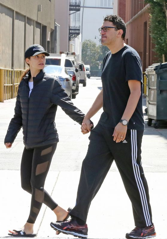 Emmy Rossum and Sam Esmail go for Breakfast at Le Pain Quotidien in Beverly Hills