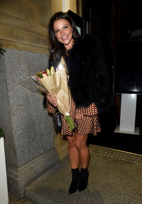 Faye Brookes - Celebrates 29th Birthday at Rosso Restaurant in Manchester 09/04/2018
