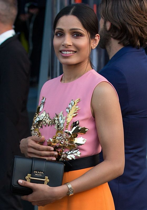 Freida Pinto - Moschino Show at Milan Fashion Week 09/20/2018