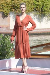 Gaia Weiss - Arrivals at the Lido for the 75th Venice Film Festival
