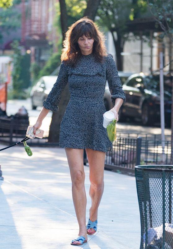 Helena Christensen Walk With Her Dog in New York 09/03/2018