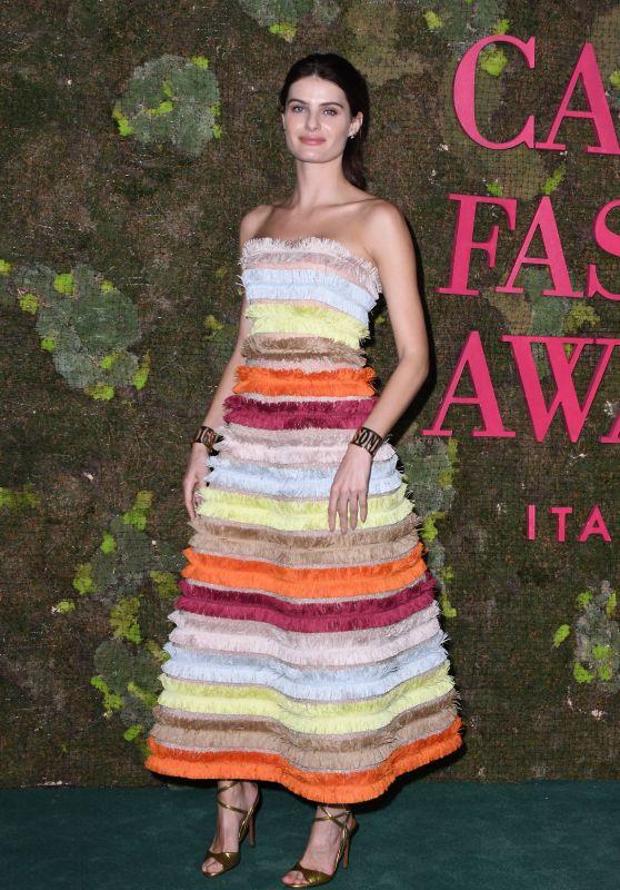 Isabeli Fontana – Green Carpet Fashion Awards in Milan 09/23/2018