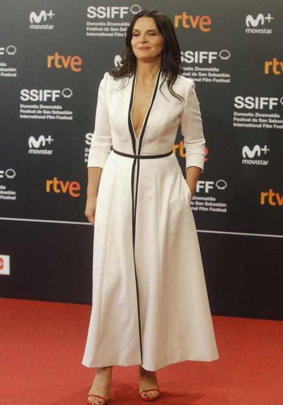 """Juliette Binoche - """"Vision"""" Premiere at the 66th San Sebastian Film Festival 09/24/2018"""