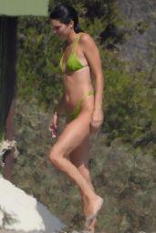Kendall Jenner in a Neon Bikini in the Ocean in Malibu 09/03/2018