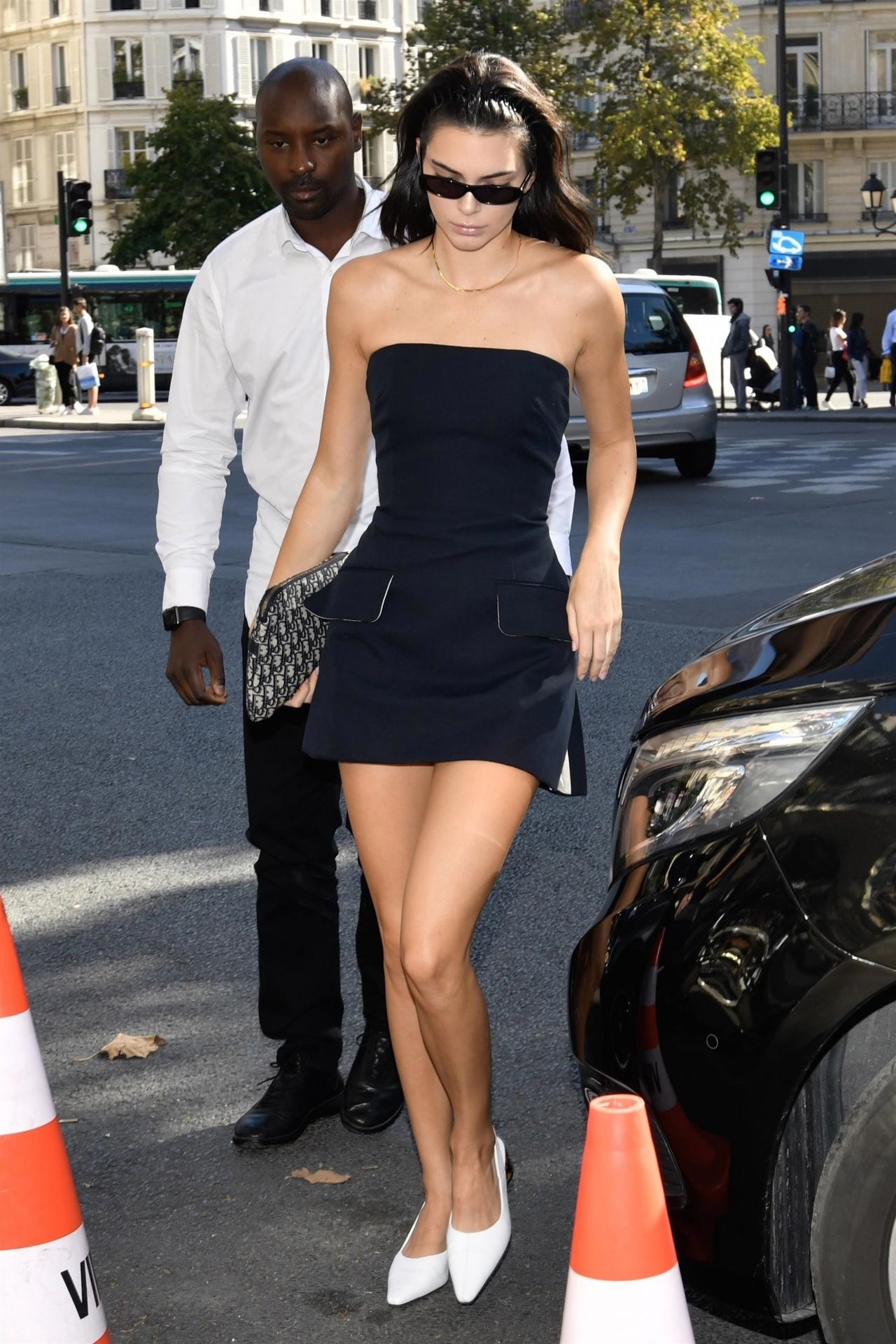 kendall jenner in mini dress  paris 09272018