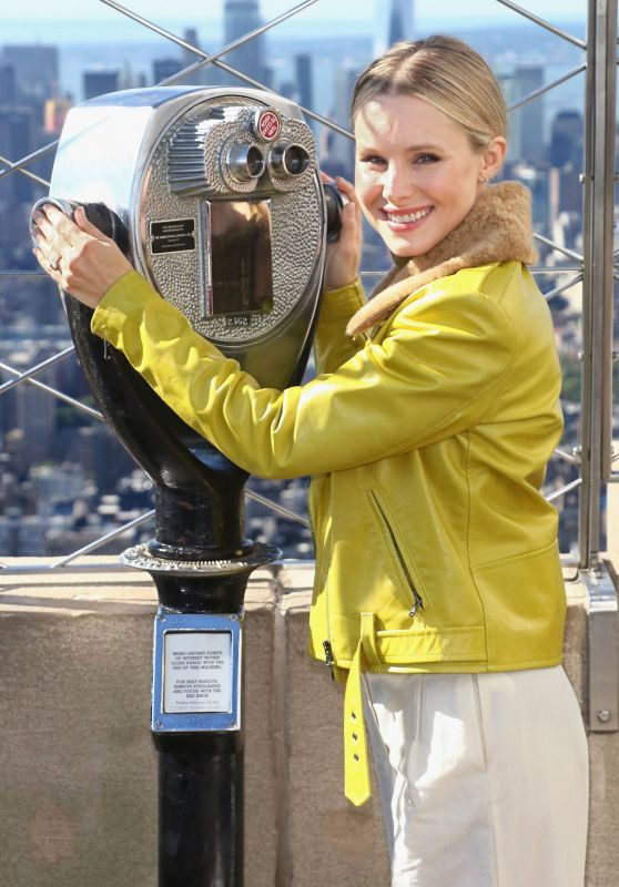Kristen Bell at Ceremonial Lighting of Empire State Building NYC 09/27/2018