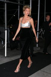 Martha Hunt – Outside Harper's Bazaar Icons Party in NYC 9/7/18