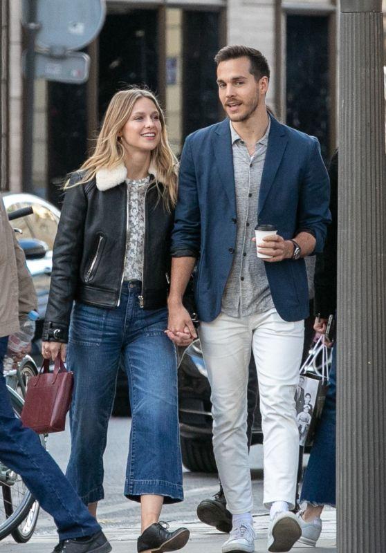 Melissa Benoist and Chris Wood - Strolling on Rue Royale in Paris 09/24/2018