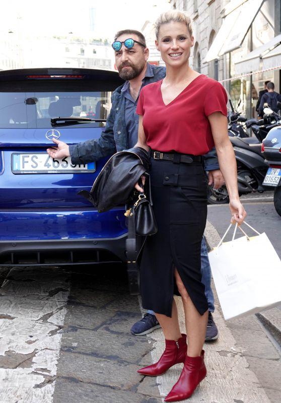 Michelle Hunziker Casual Style - Milan 09/28/2018