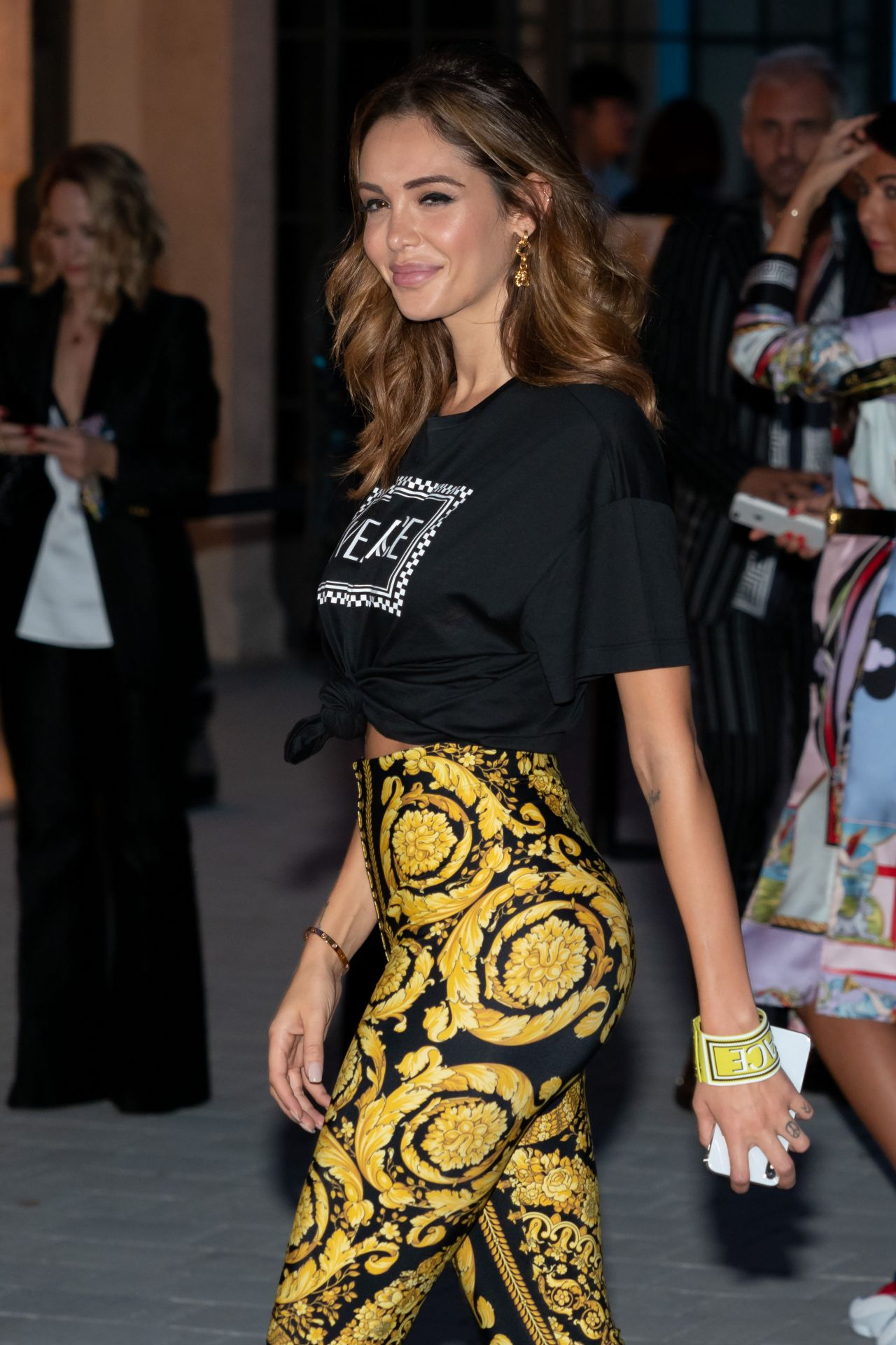 Nabilla Benattia at the Versace Show, Milan Fashion Week ...