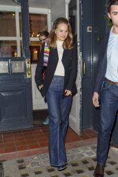 Natalie Portman - Leaving Pub in London 09/27/2018