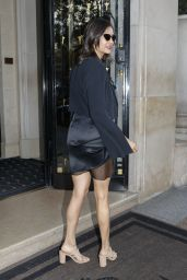Nina Dobrev - Outside the George V Hotel in Paris 09/29/2018
