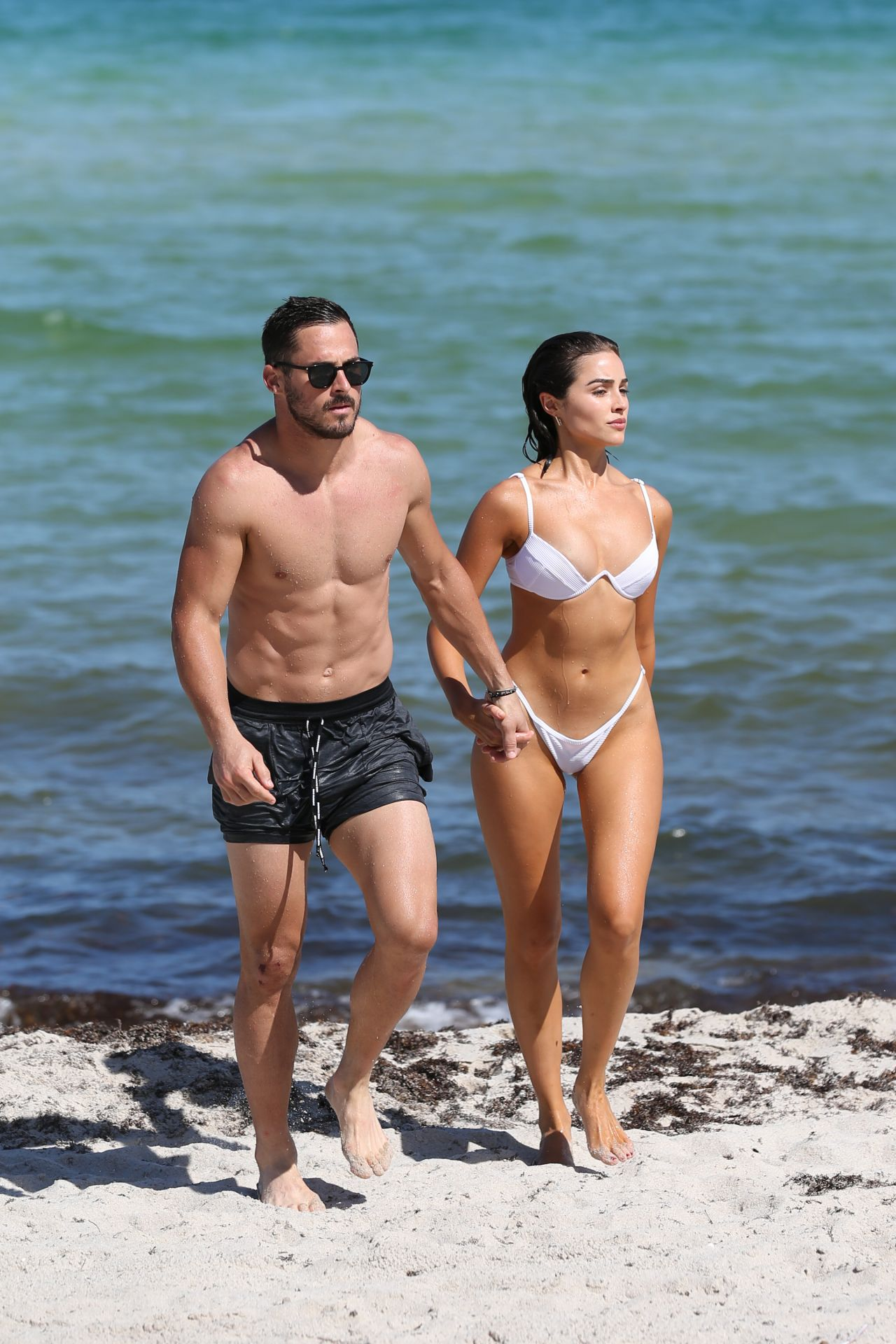 Olivia Culpo In Bikini With Danny Amendola On Miami Beach -6341