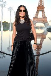 Salma Hayek – Saint Laurent Show, Paris Fashion Week 09/25/2018