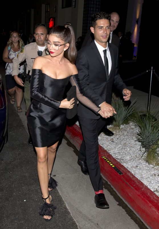 Sarah Hyland and Wells Adam - Leaving the Audi Pre-Emmy Party in West Hollywood 09/15/2018