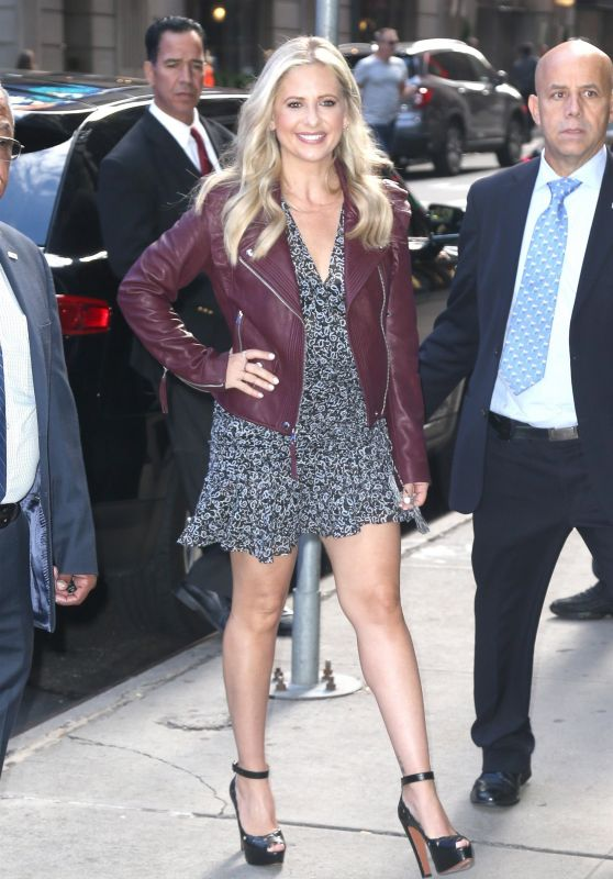 Sarah Michelle Gellar Arrives for Good Morning America Show in NYC 09/27/2018