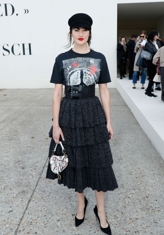 Shailene Woodley – Christian Dior Show, Paris Fashion Week 09/24/2018