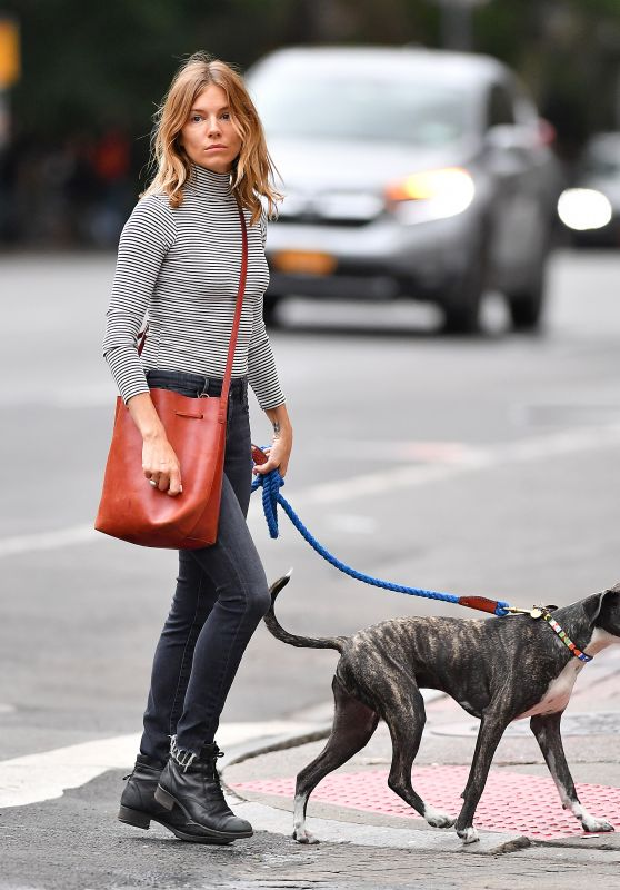 Sienna Miller Walks Her Dog in NYC 09/21/2018