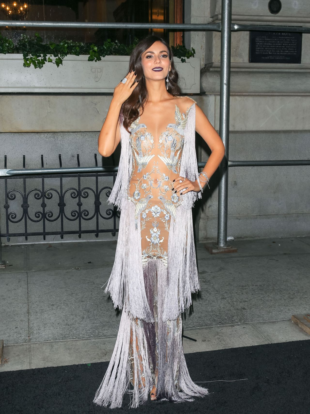 Victoria Justice  Outside Harpers Bazaar Icons Party In -3813