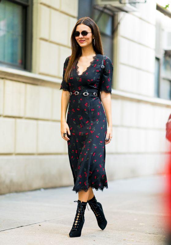 Victoria Justice Street Fashion - NYC 09/26/2018
