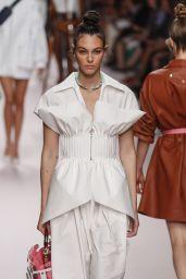 Vittoria Ceretti Walks Fendi Fashion Show at Milan Fashion Week 09/20/2018