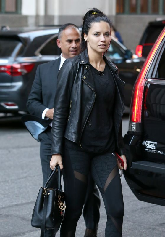 Adriana Lima - Returning Back to Her Hotel in NYC 10/12/2018