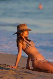 Alessandra Ambrosio at the Beach in Santa Monica 10/20/2018